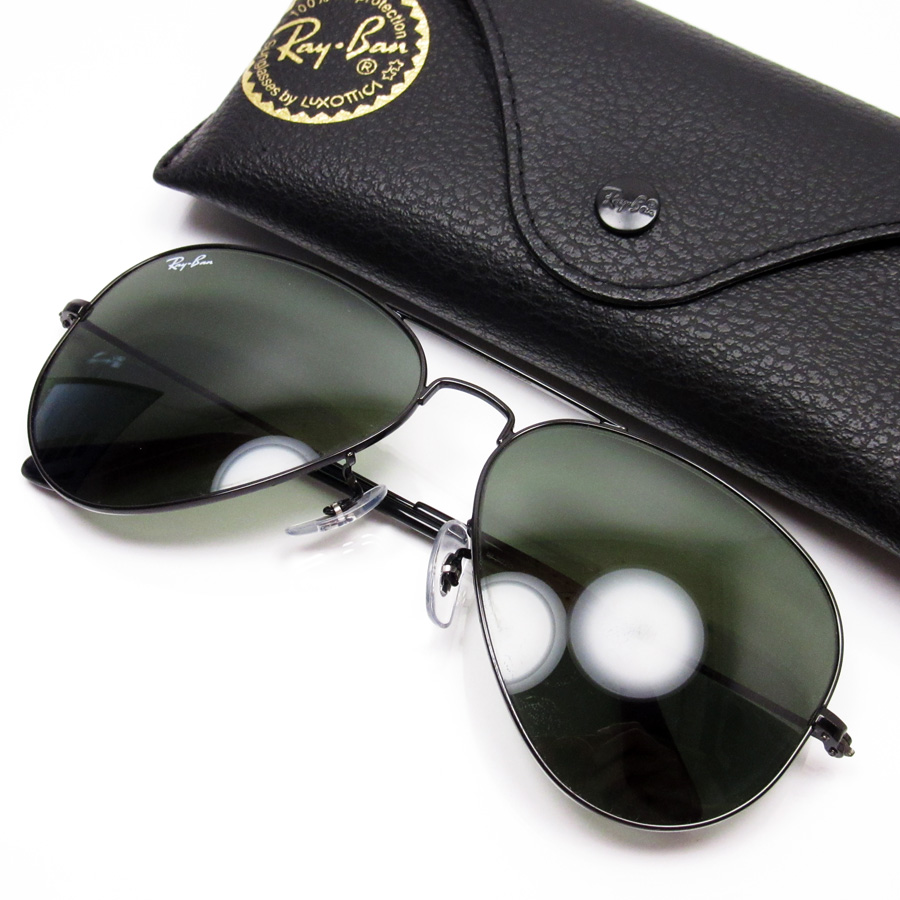 81d8935649b  basic popularity   used  a Ray-Ban  Ray-Ban  teardrop sunglasses (58 □ 14  135) lady s men s frame  A black lens  Dark green SS