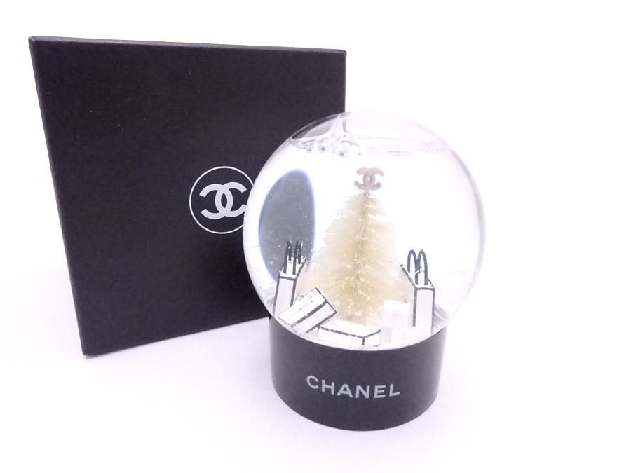 シャネル CHANEL スノードーム 2012年顧客様限定 ノベルティ ブラックxホワイト グラスxプラスチック オブジェ 置物 レディース メンズ 【中古】【定番人気】 - e35668