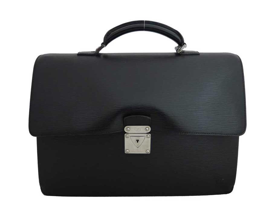 ルイヴィトン Louis Vuitton バッグ エピ ロブスト1 ブラックxシルバー金具 エピレザー ビジネスバッグ ハンドバッグ レディース メンズ M54532 【中古】【定番人気】 - e35896