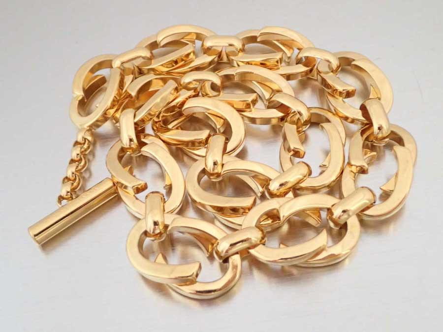 グッチ Gucci ネックレス ゴールド 金属素材 チェーンネックレス ゴールドネックレス レディース 【中古】【おすすめ】 - e35940