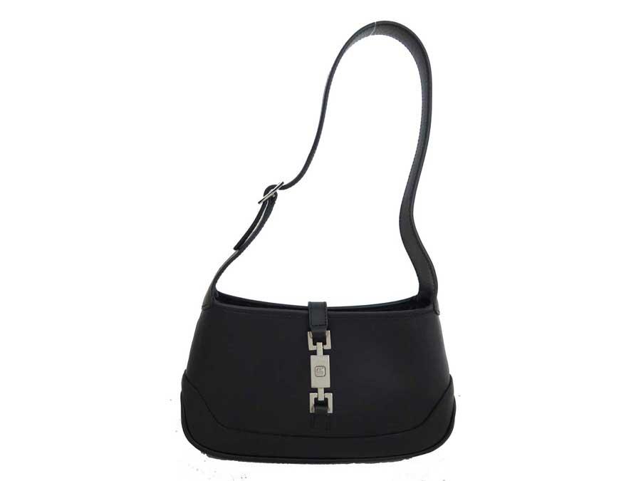 9263b77d412  basic popularity   used  Gucci  Gucci  Jackie bag shoulder bag mini-bag  lady black x silver metal fittings leather