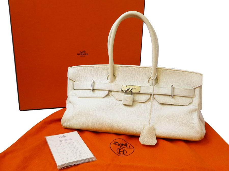 050d1c54f4d ... cheap basic popularity used hermes hermes shoulder birkin bag shoulder  bag ladys white x silver metal
