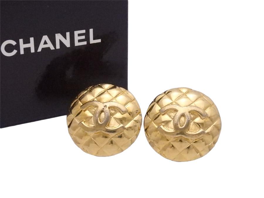 a2a0235a38de シャネル CHANEL イヤリング ココマーク ゴールド 金属素材 ロゴ ...