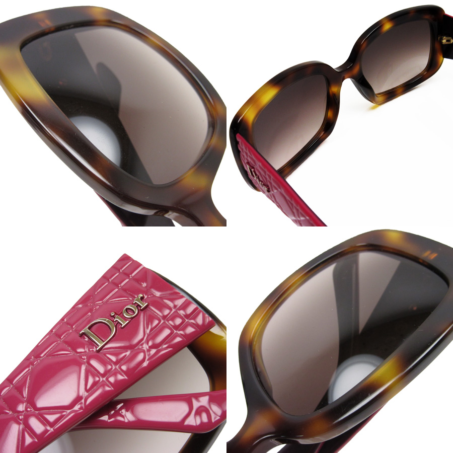 5810b85ebff Christian Dior Christian Dior sunglasses (53 □ 21 135) lens  A brown frame   A tortoiseshell side  Pink   gold plastic Lady s - h19937