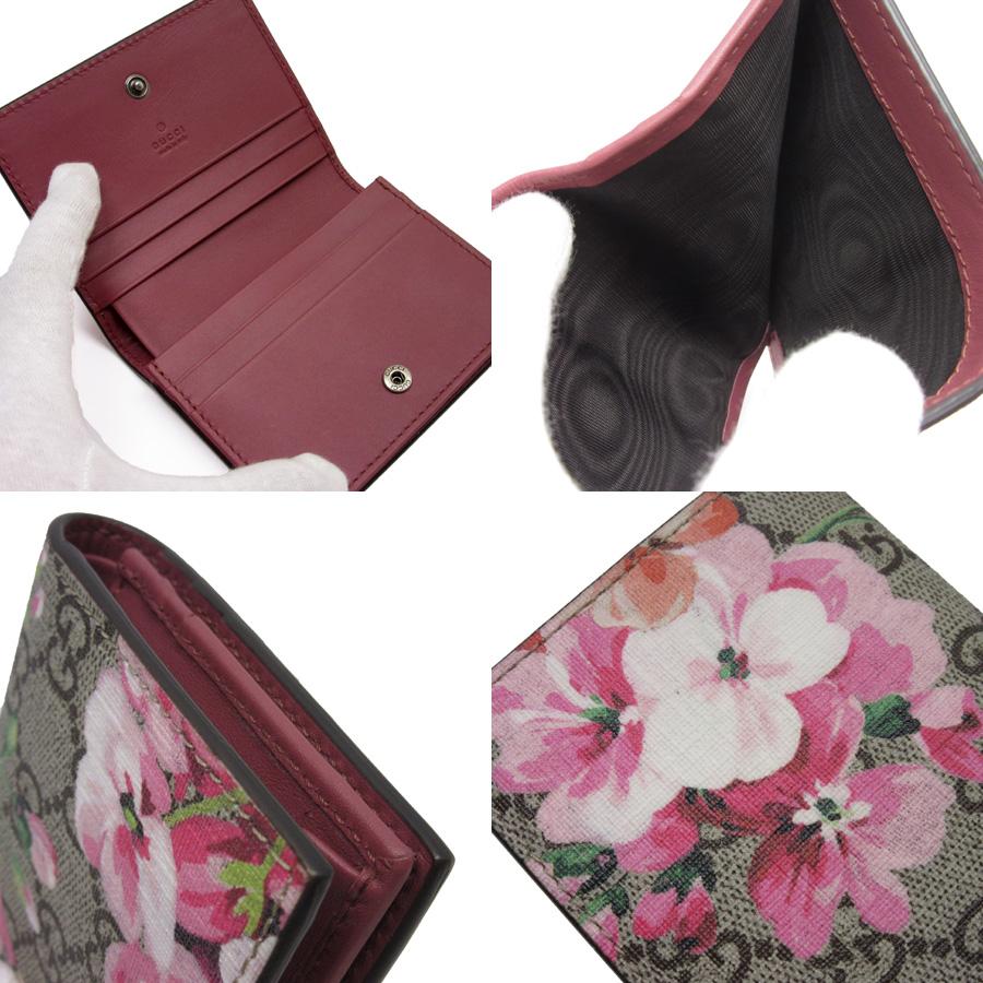 887c4d0090c Gucci GUCCI billfold card case GG スプリームベージュ x pink PVC Lady s - h19940