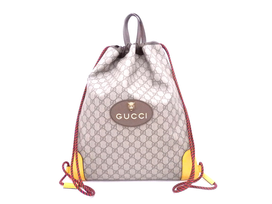 b09a31e077e  beautiful article  It is Gucci  Gucci  GG スプリームハンドバッグリュックサックバックパックブラウン GG  スプリームキャンバス x leather  used