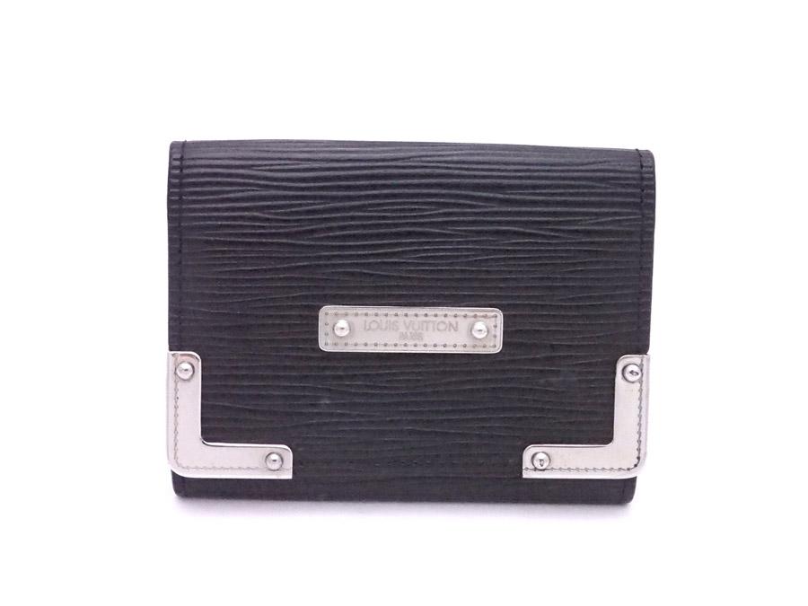 ルイヴィトン Louis Vuitton カードケース エピ ブラック エピレザーxシルバー金具 名刺入れ 【中古】【おすすめ】 - e35328