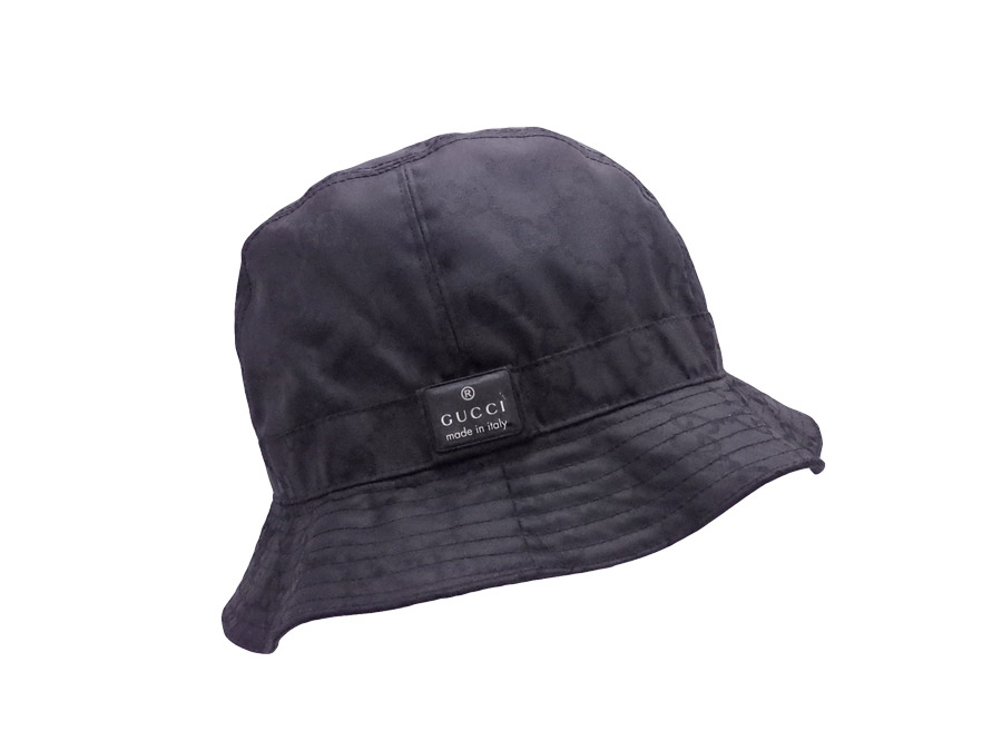 4e9bddf271c81 It is Gucci  Gucci  GG logo hat hat logo hat Lady s men black 90% polyester  x10 % acrylic  soot   used