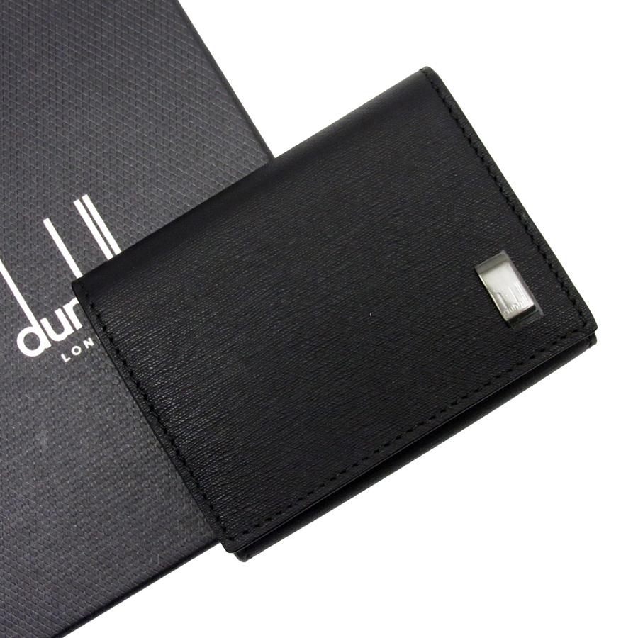 【未使用】【新品】ダンヒル dunhill コインケース ブラック レザー メンズ - h20285