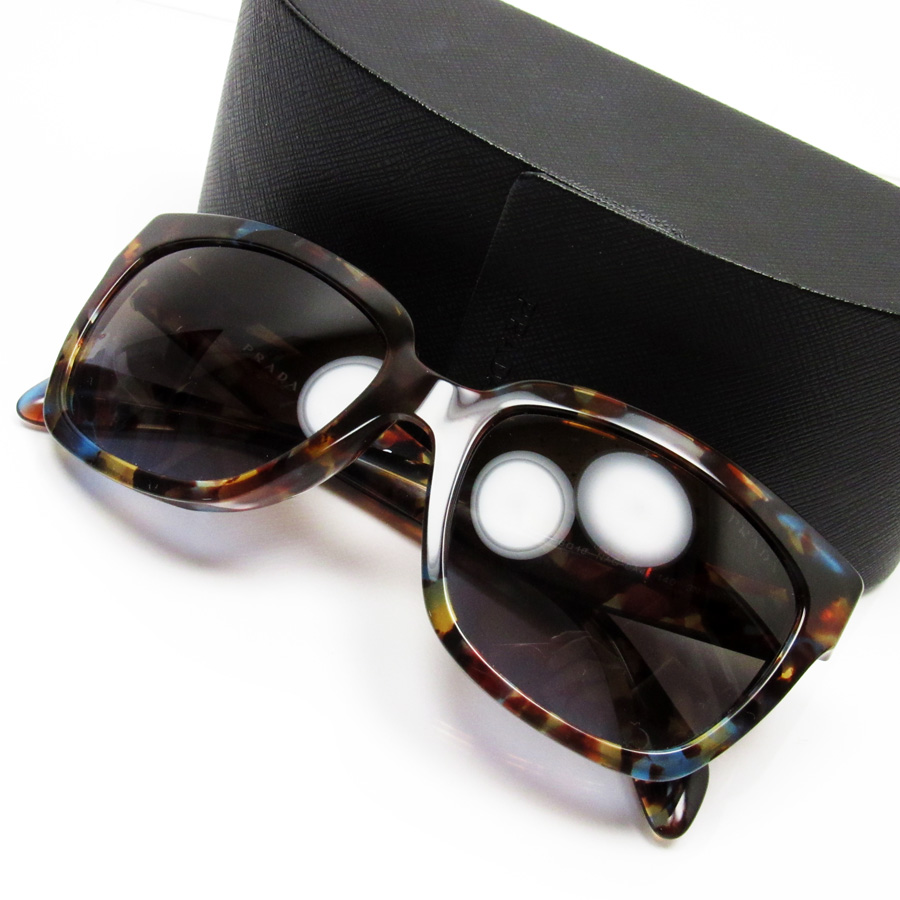 2f20f6c61b4  basic popularity   used  a Prada  PRADA  sunglasses (56 □ 18 140) lady s  men s frame  Brown x blue lens  Brown plastic