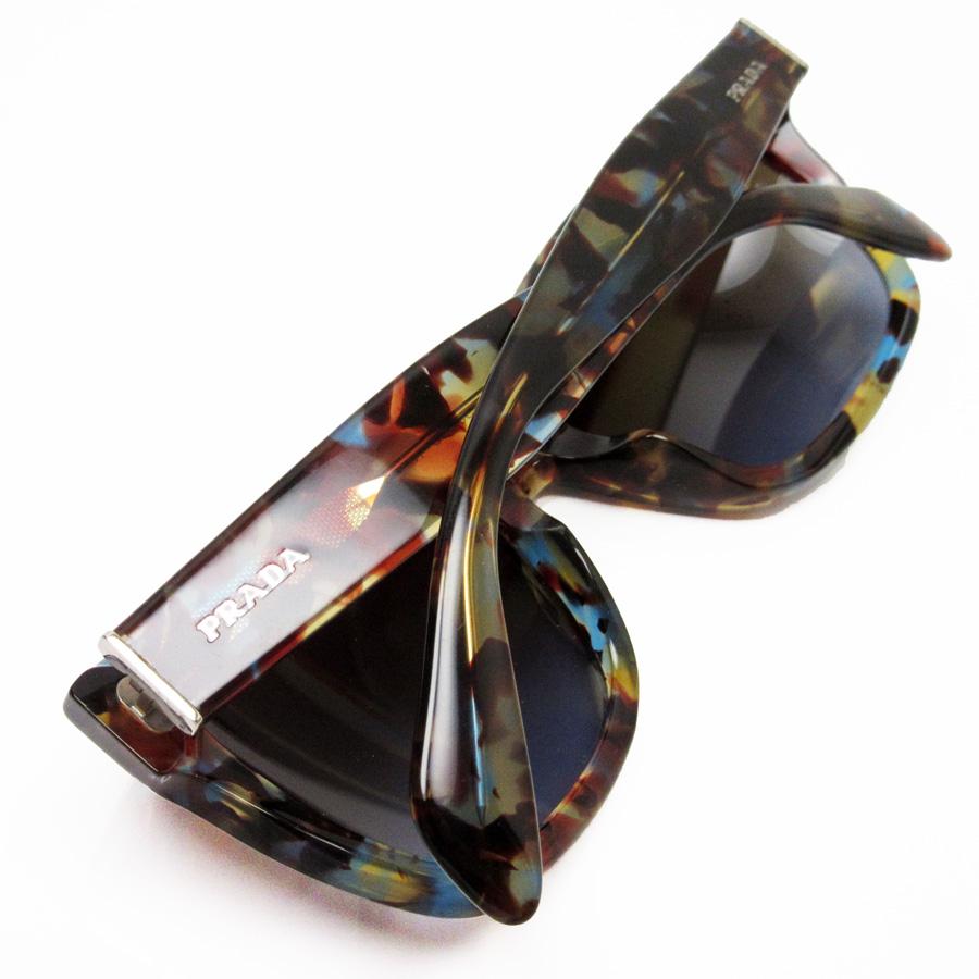 501f2aa30cd  basic popularity   used  a Prada  PRADA  sunglasses (56 □ 18 140) lady s  men s frame  Brown x blue lens  Brown plastic
