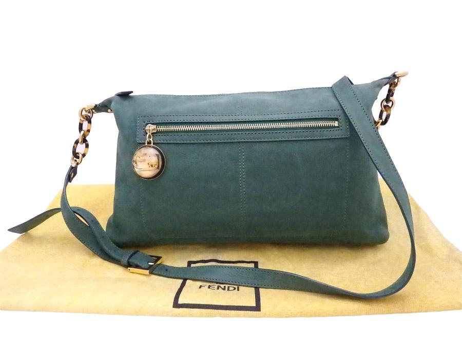 d079d9e5ed9a ... order basic popularity used take fendi fendi double f bag shoulder bag  slant bag lady green