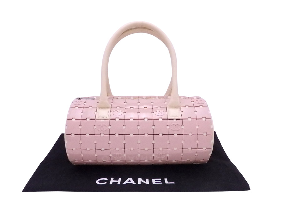 4797fa2442f  basic popularity   used  Chanel  CHANEL  here mark bag handbag Lady s pink  x beige x silver metal fittings plastic x leather