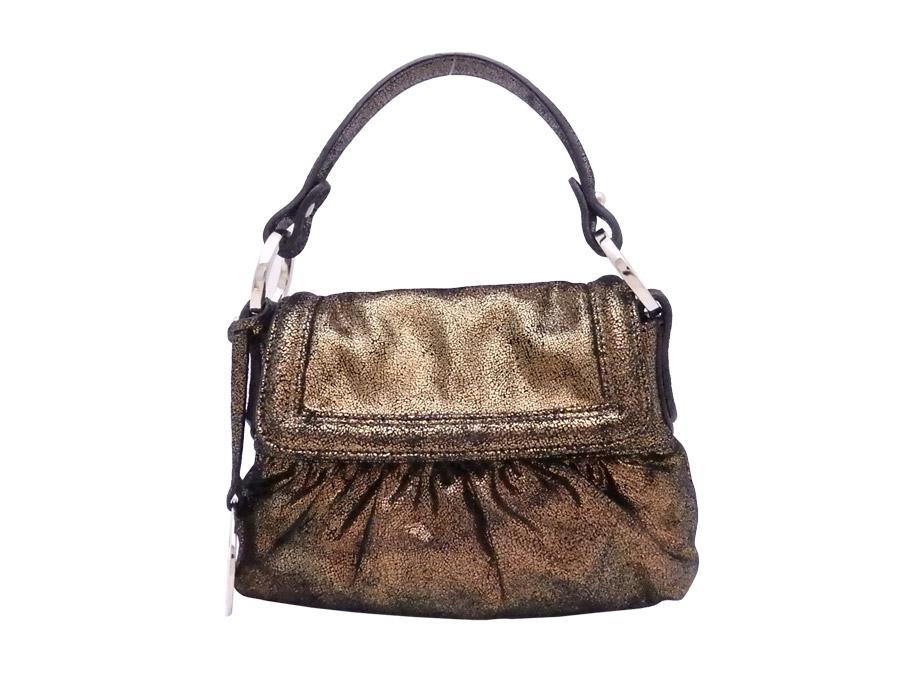ae73a9ce2b  basic popularity   used  Fendi  FENDI  bag handbag mini-bag lady metallic  bronze x gold metal fittings leather