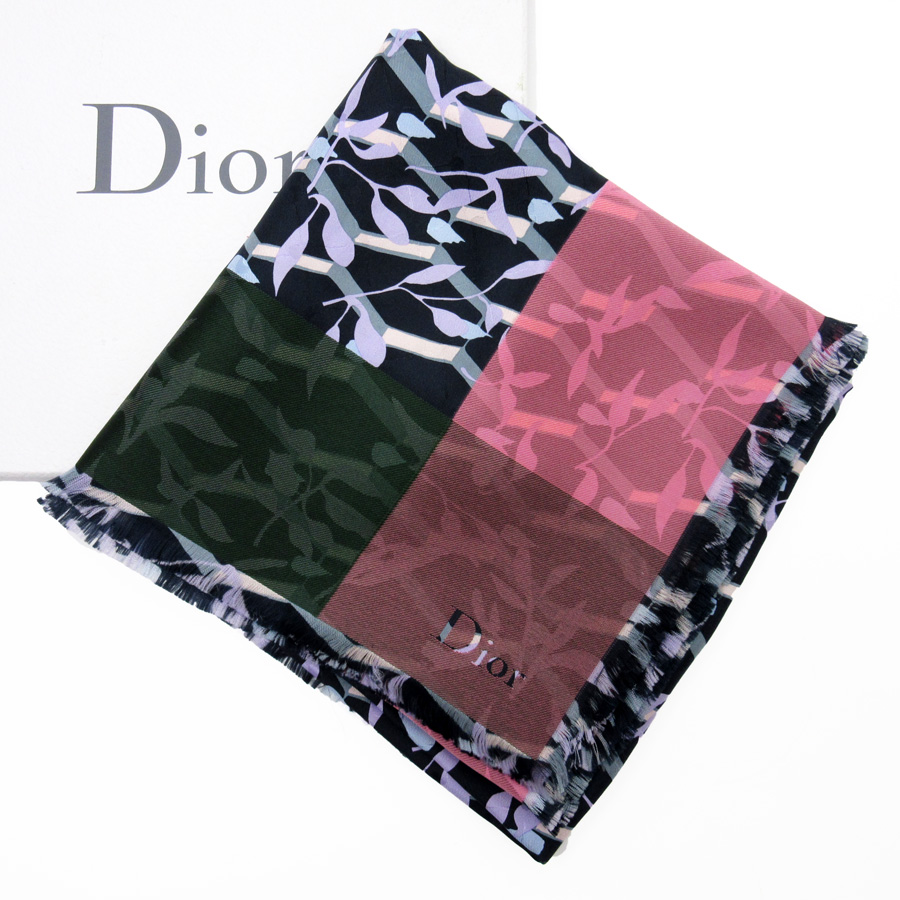 6992889f7b93d BrandValue: 10% of Christian Dior Christian Dior scarf green x purple x  pink silk 90% polyester lady's - n9088 | Rakuten Global Market