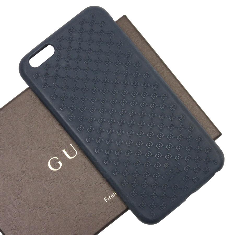 hot sale online 742d2 5bea0 Gucci GUCCI iPhone case GG iPhone 6/6s Plus navy silicon Lady's men - t14491