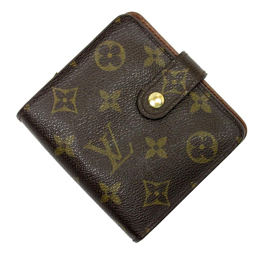 ルイヴィトン Louis Vuitton 二つ折り財布 モノグラム コンパクトジップ モノグラムキャンバス レディース M61667 【中古】【定番人気】 - x2621