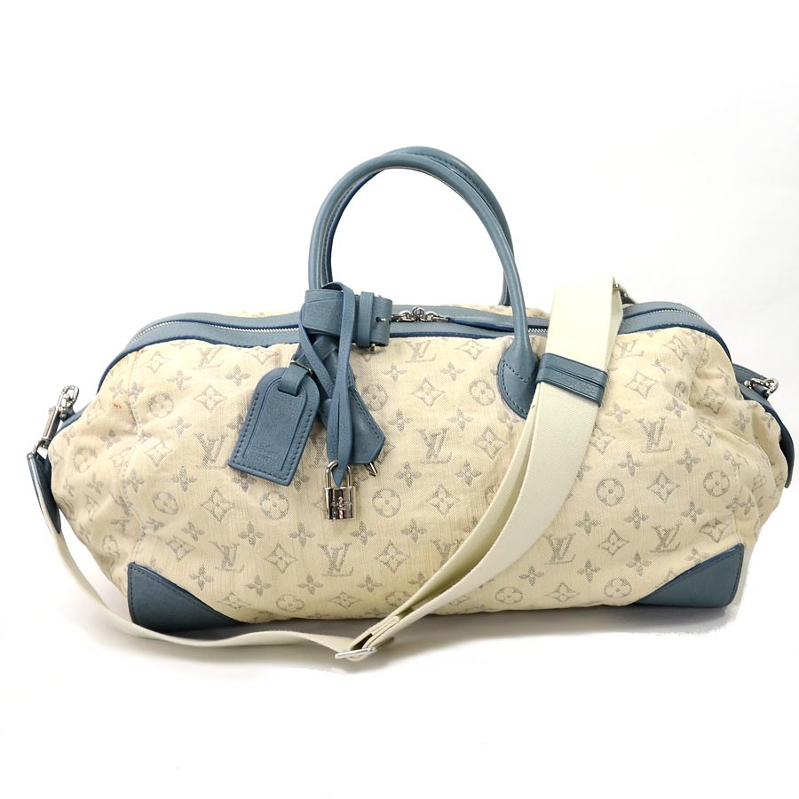 6737bc21a3a8  basic popularity   used  Louis Vuitton  Louis Vuitton  monogram denim  speedy round GM handbag shoulder bag Boston bag Lady s ivory system x mho  keeve roux ...