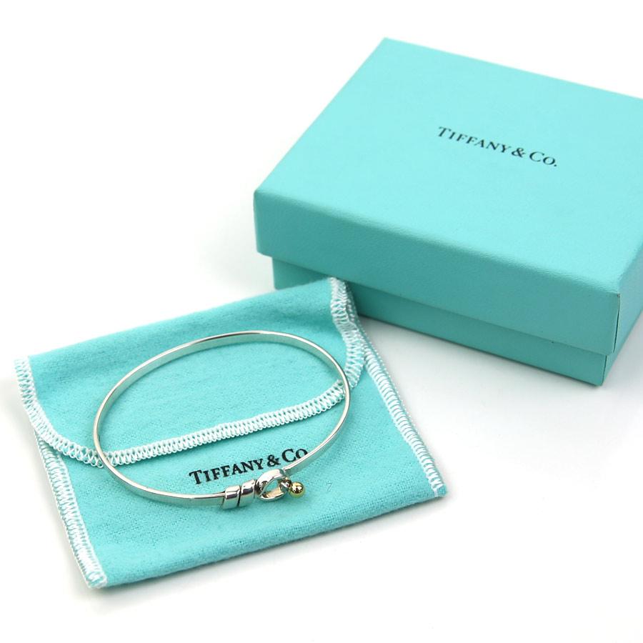 919d7999b [basic popularity] [used] Tiffany [Tiffany&Co.] hook & eye bracelet bangle  Lady's silver x yellow gold SV925x750YG