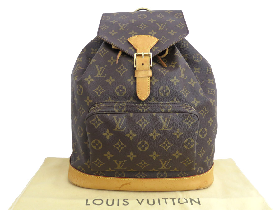 Louis Vuitton Rucksack Monogram Mon Pickpocket Gm Brown Canvas Backpack M51135 E36099