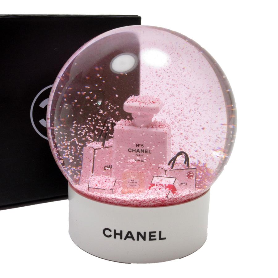 シャネル CHANEL スノードーム ノベルティ ホワイトxピンク ガラスxプラスチック 【中古】【ノベルティ】 - h21436