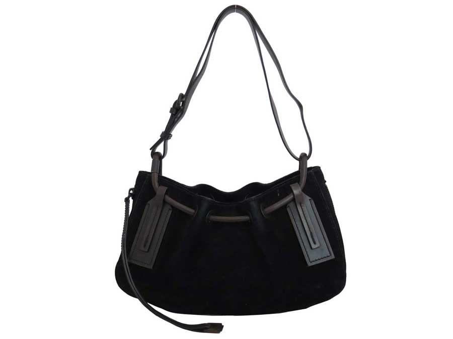 bba1dadb11 BrandValue: Gucci GUCCI bag black x dark brown suede x leather shoulder bag  handbag Lady's 101312 - e36941 | Rakuten Global Market