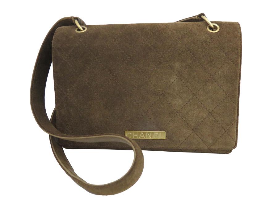 9e00e8ad0b5e BrandValue: Chanel CHANEL shoulder bag vintage matelasse brown suede x  leather x gold metal fittings - e36547   Rakuten Global Market