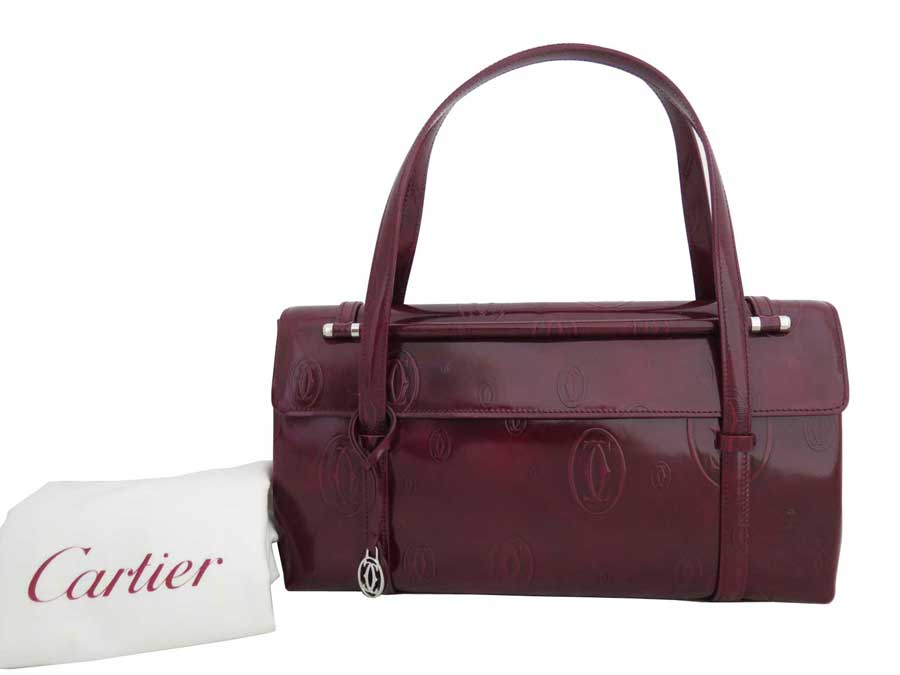 b48368192a74 Brandvalue Cartier Bag Hy Bus D Dark Red X Silver Metal. Louis Vuitton Alma  Mm Handbags Patent Leather ...