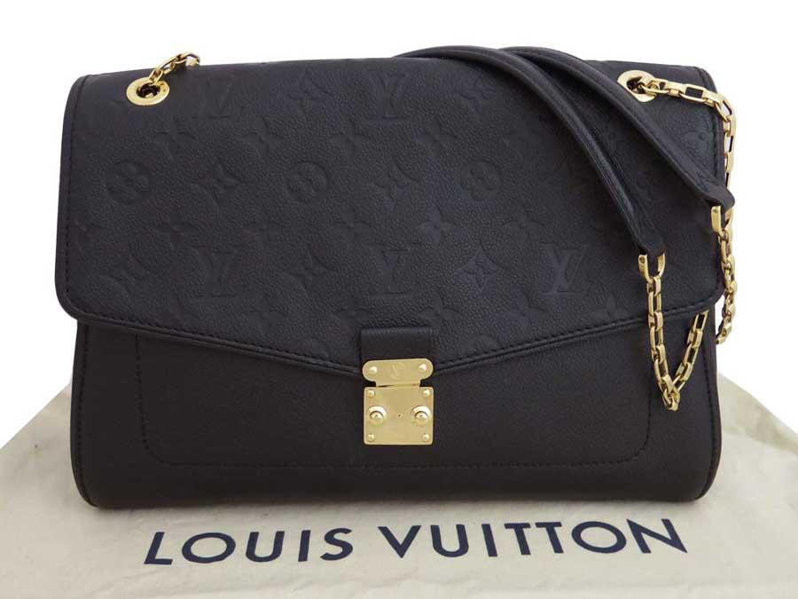 【美品】ルイヴィトン Louis Vuitton バッグ モノグラムアンプラント サンジェルマン ブラックxゴールド金具 モノグラムアンプラントレザー ショルダーバッグ チェーンショルダー レディース M48933 【中古】 - e37241