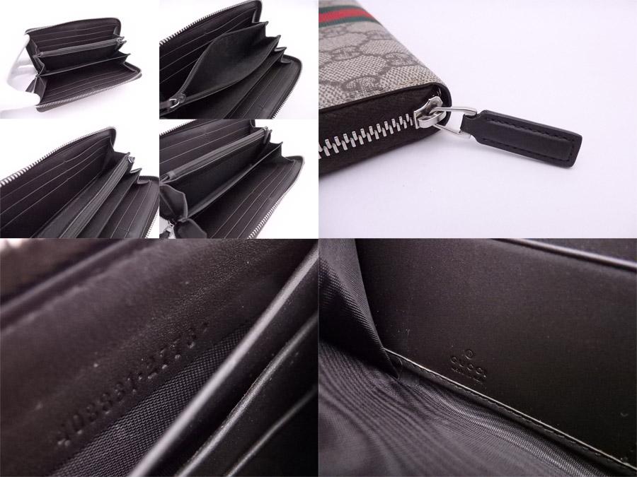 55fdd0eb3e73 グッチのラウンドファスナー長財布です。内側は大きく開くアコーディオンタイプで、収納力も豊富☆整理しやすく使いやすいおススメの逸品です♪