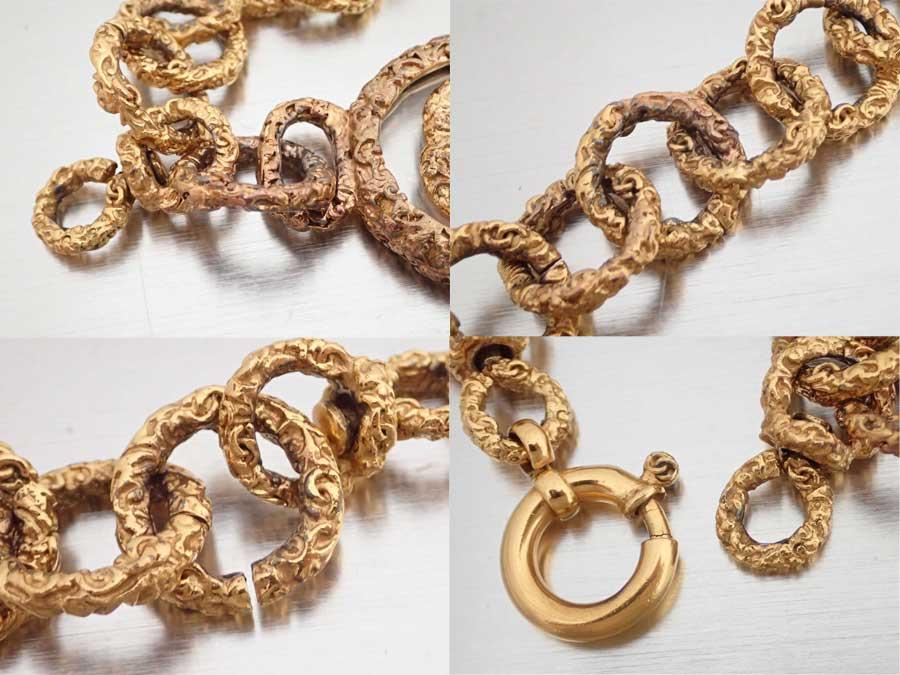 シャネル CHANEL ブレスレット ココマーク ゴールド 金属素材 チェーンブレスレット ロゴブレス レディース定番人気e37371R5L4Aj