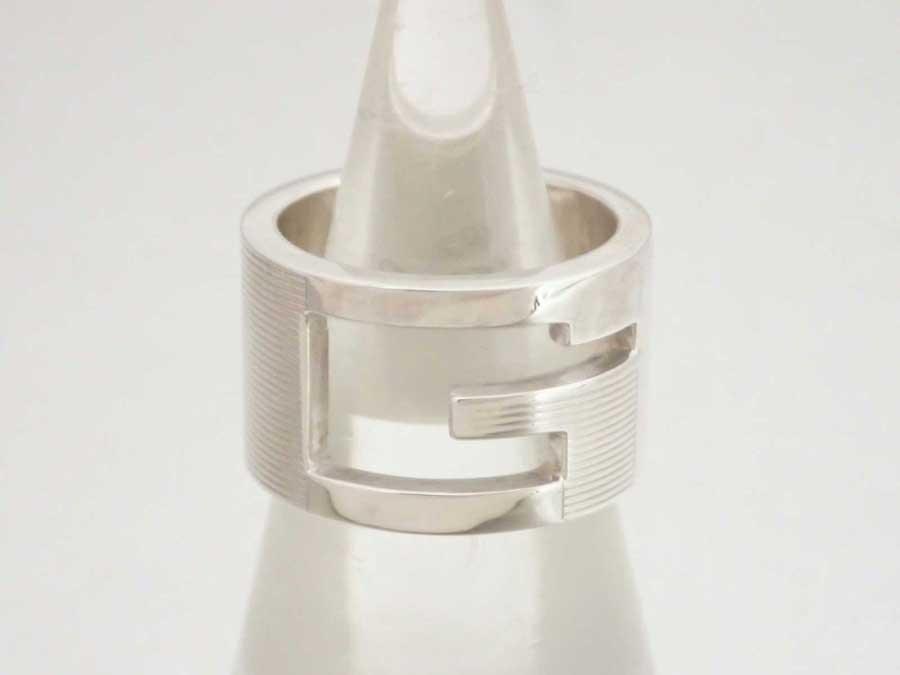 128252bb455b 【おすすめ】 【中古】グッチ【Gucci】Gロゴ リング 指輪 8号 レディース メンズ シルバー SV925