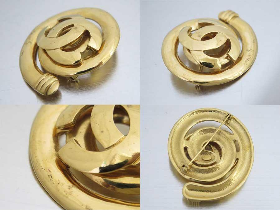 e12f0759bd7ed9 【おすすめ】 【中古】シャネル【CHANEL】ココマーク ヴィンテージ ブローチ ロゴブローチ ゴールドブローチ レディース ゴールド 金属素材