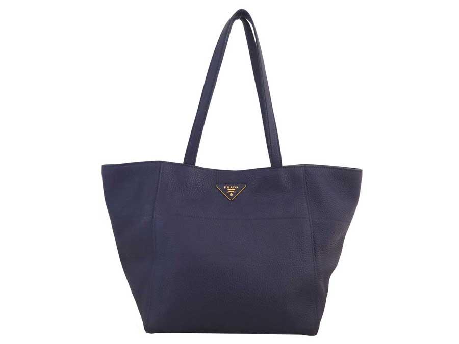 759ccf6bfb00 BrandValue: Prada Prada bag logo purple x gold metal fittings leather  shoulder bag tote bag Lady's - e37700 | Rakuten Global Market