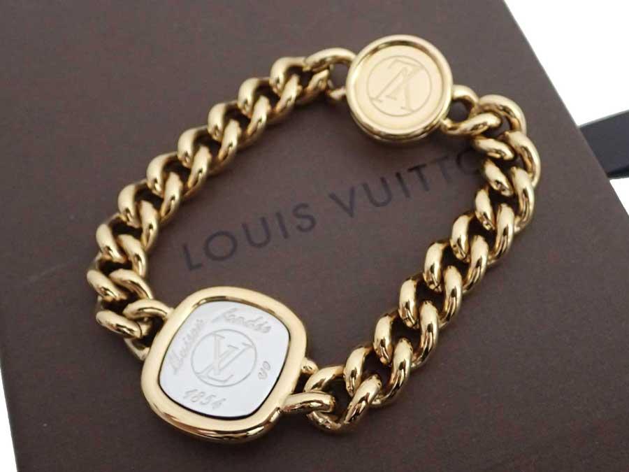 e2b8bade43215 Louis Vuitton Louis Vuitton bracelet I.D. Bracelet gold x silver metal  material chain bracelet bangle Lady's men M61092 - e37818