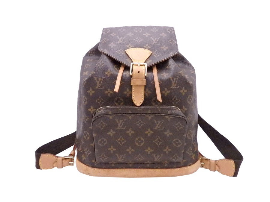 072b8ac29464 Louis Vuitton Louis Vuitton rucksack monogram mon pickpocket GM brown x  gold metal fittings monogram canvas backpack bag lady M51135 - e36754