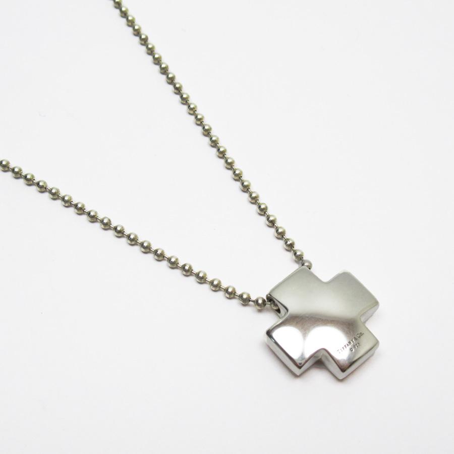 ティファニー Tiffany&Co. ネックレス クロス シルバー 925 レディース 【中古】【定番人気】 - h23359