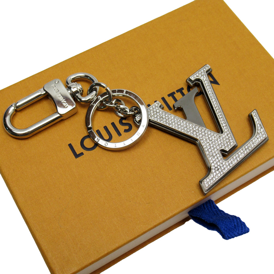 ルイヴィトン Louis Vuitton キーリング キーホルダー チャーム ポルトクレ・LV カプシーヌ ストラス シルバー メタルxラインストーン レディース M64264 【中古】【おすすめ】 - h23379