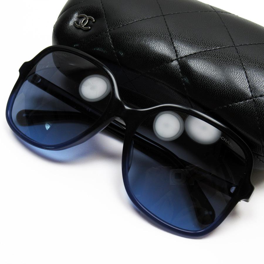 シャネル CHANEL サングラス(58□18 140) ココマーク ブラックxブルー プラスチック レディース 【中古】【定番人気】 - h23471c