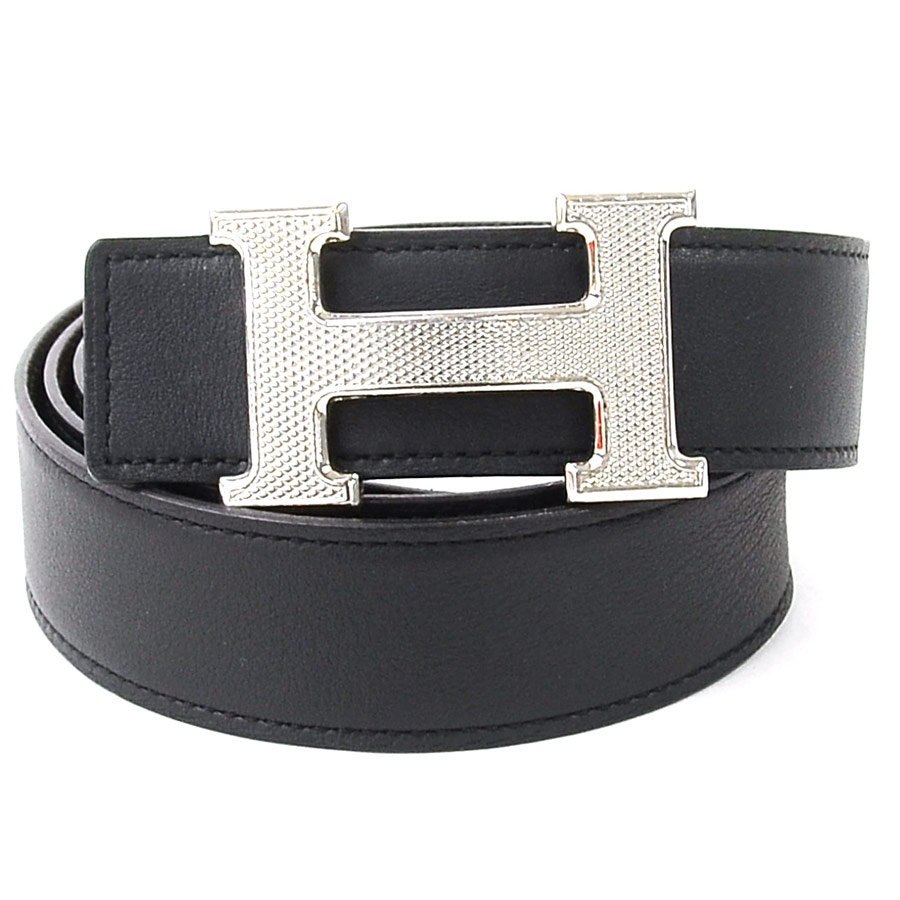 13ee5c2caca BrandValue  Hermes belt 85 H buckle reversible Constance black x brown x silver  HERMES Lady s men -95