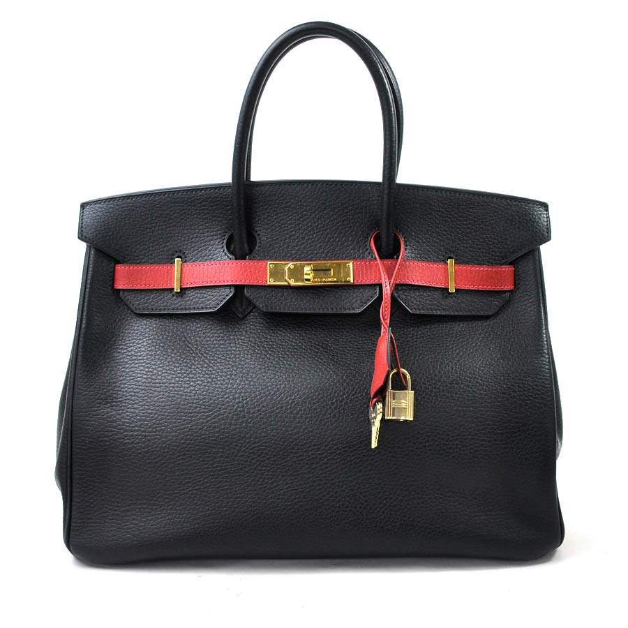 daa1ac3fd22 BrandValue: Hermes HERMES handbag Birkin 35 black x ルージュヴィフトリヨンクレマンスレディース  reduction in price product -95,906 | Rakuten Global Market