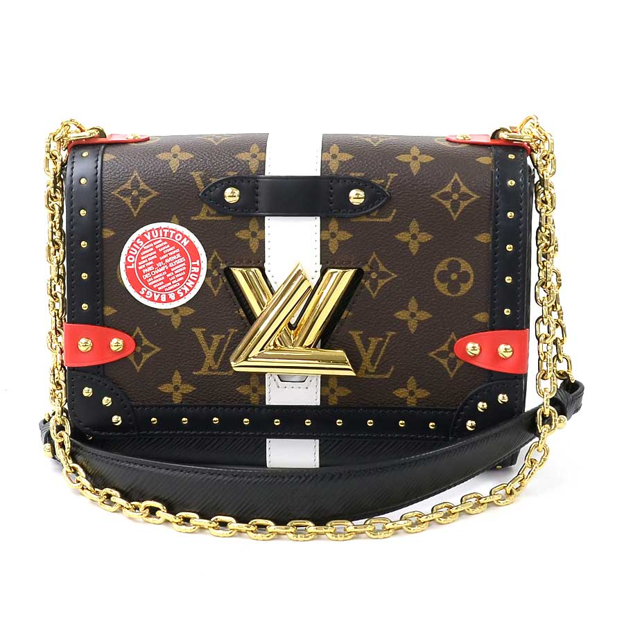 6985599d2b Louis Vuitton chain shoulder bag monogram twist MM brown x red x black x  white x gold monogram canvas x エピレザー x studs Louis Vuitton Lady's M43629 ...