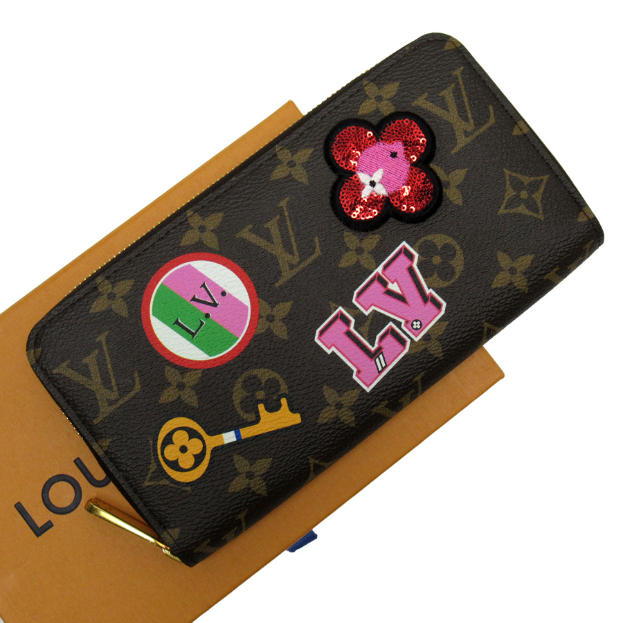 ルイヴィトン Louis Vuitton ラウンドファスナー長財布 モノグラム ジッピー・ウォレット パッチーズ モノグラムキャンバス レディース M63392 【中古】【おすすめ】 - h23756d