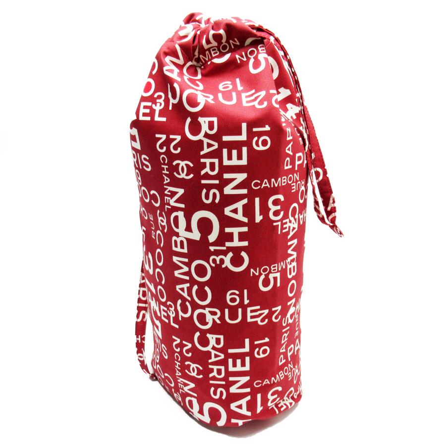 シャネル CHANEL ショルダーバッグ 巾着バッグ レッドxアイボリー キャンバス レディース 【中古】【おすすめ】 - h23800a