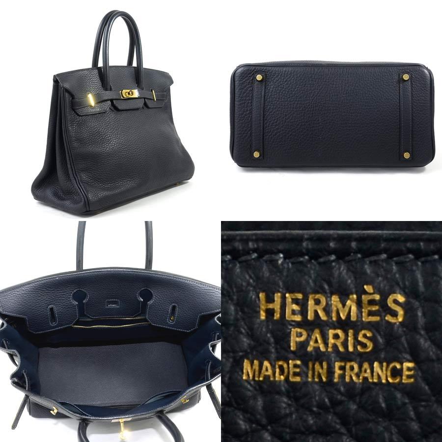 75c4f36584  basic popularity   used  Hermes  HERMES  Birkin 35 handbag Lady s blue  royal (navy) avian Yong Clement s