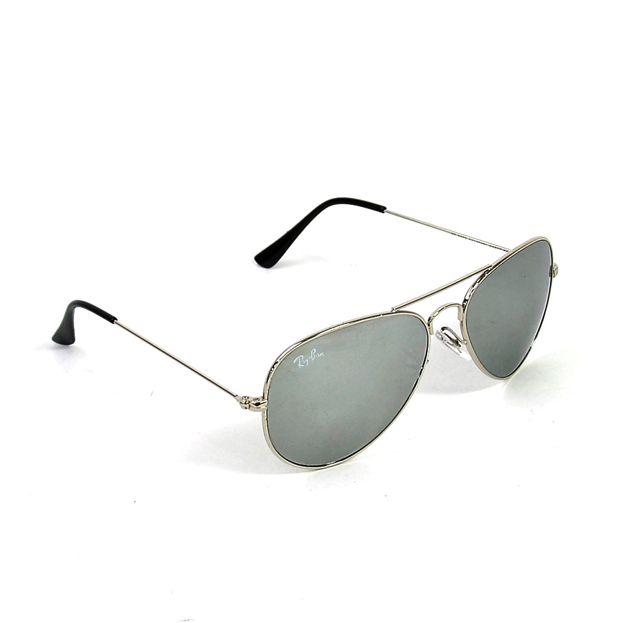 39f19778bd  beautiful article  It is a Ray-Ban  Ray-Ban  AVIATOR sunglasses Lady s men  silver x silver mirror x black plastic x lens x metal material  used