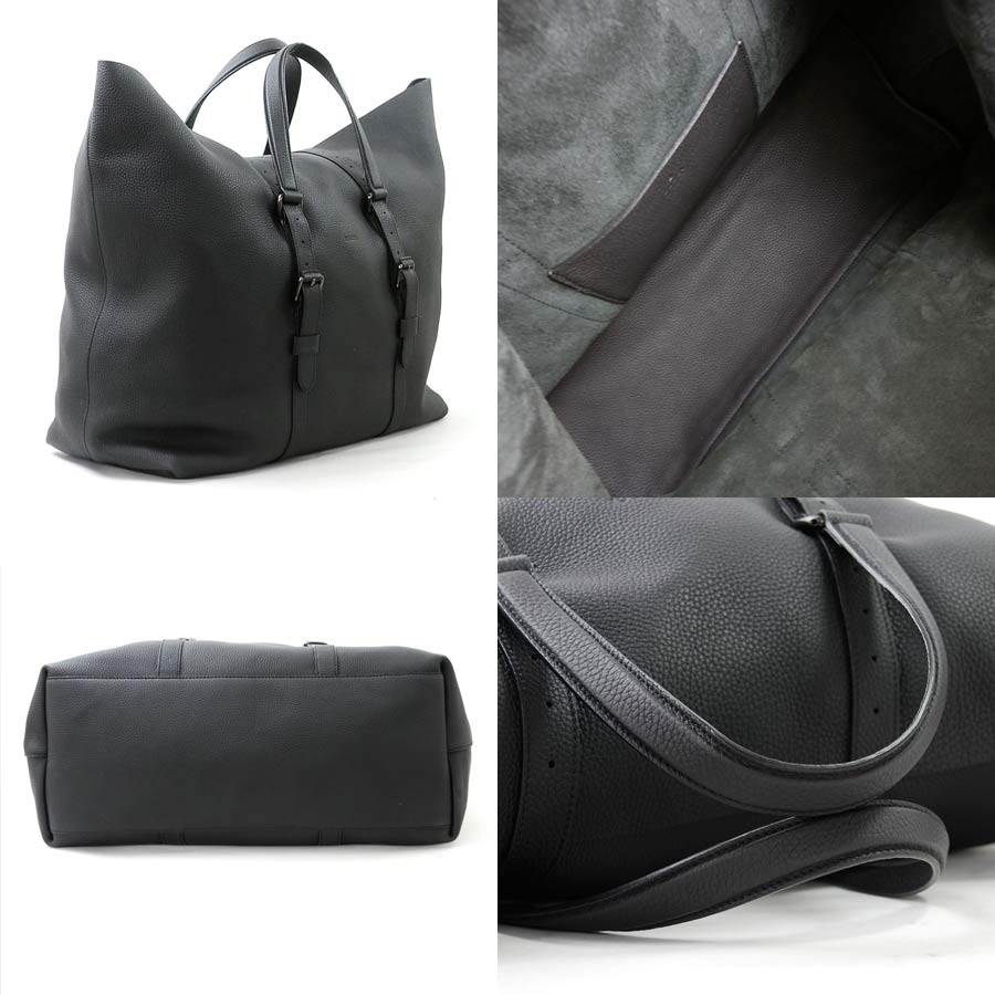 9d8cd327dd2  beautiful article  It is Gucci  GUCCI  shoulder bag tote bag Lady s men  black leather  used