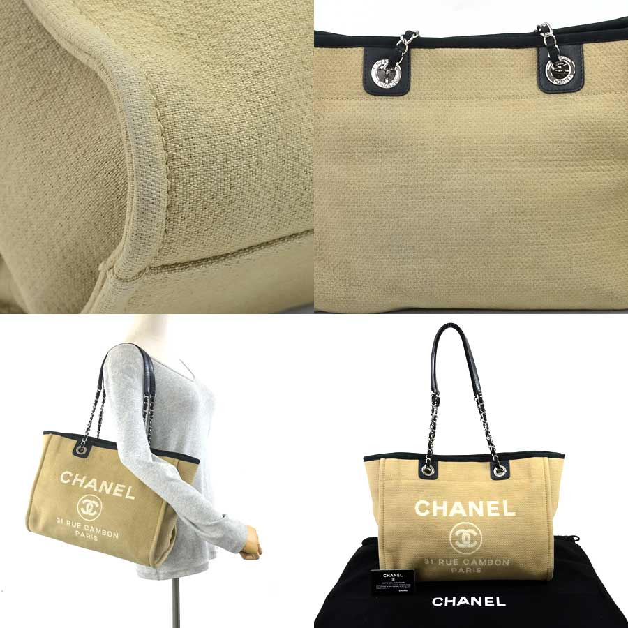 5c024754ac4f49 [basic popularity] [used] Chanel [CHANEL] 31 RUE CAMBON shoulder bag tote  bag Lady's light brown canvas x leather