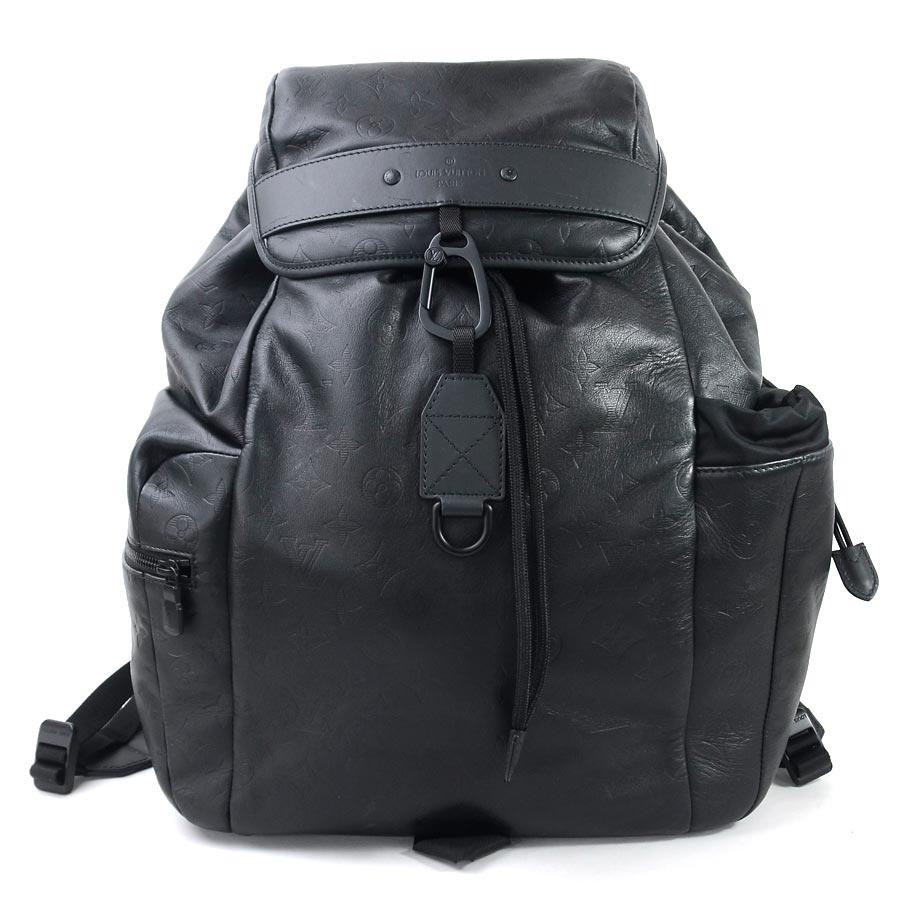 824cf9a5d87 Louis Vuitton rucksack backpack monogram shadow Discovery backpack black  monogram shadow leather Louis Vuitton men M43680 premium special feature ...