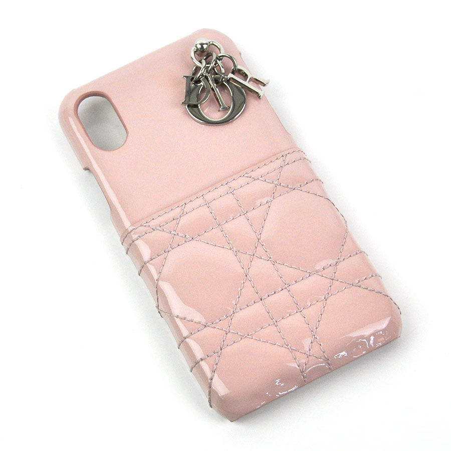 new york a7ae0 fd7eb Christian Dior iphone case (X/XS) mobile case lady Dior light pink system  patent calfskin Christian Dior Lady's - y13632